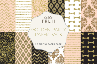 GOLDEN PARTY DIGITAL PAPER
