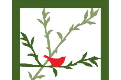Bird on Branch SVG