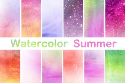Watercolor Papers Digital Scrapbook