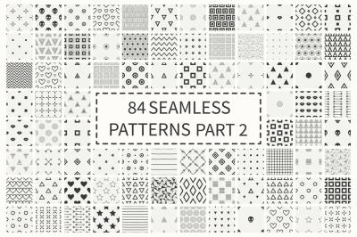 84 Seamless Patterns Set