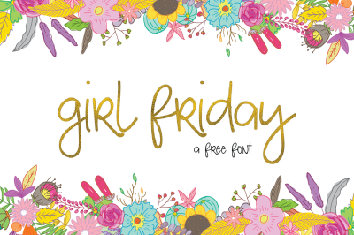 The Girl Friday Font