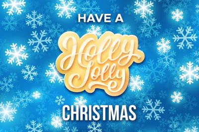 Holly Jolly Christmas. Vector cards