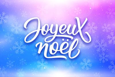 Joyeux Noel. Vector cards set