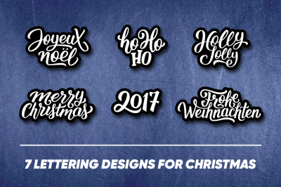 Lettering with Christmas greetings