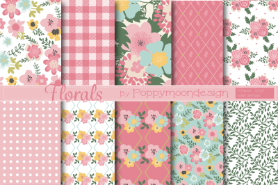 Pretty floral papers