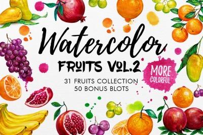 Watercolor Fruits Vol. 2