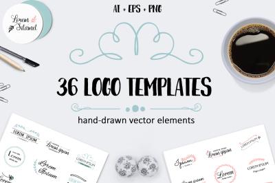 36 Minimalistic Logo Templates