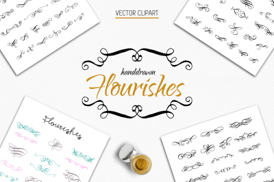 70 Calligraphic Flourishes Collection