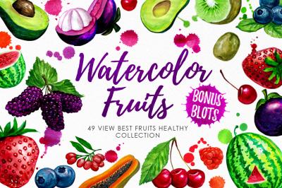 Watercolor Fruits Vol. 3