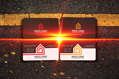home inside the house business card