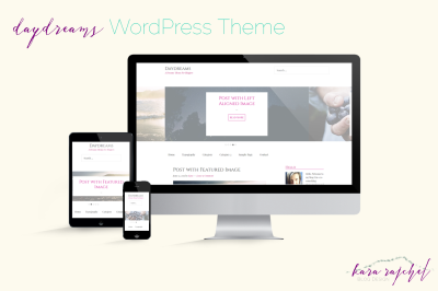 Daydreams: Feminine Responsive WordPress Theme with 5 Color Themes