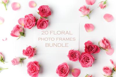 20 Floral frames bundle