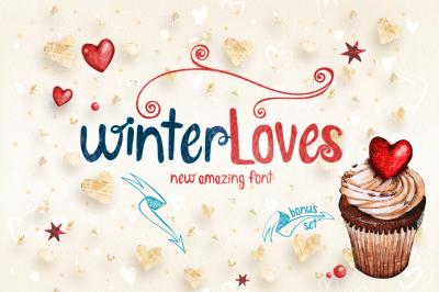1$!! WinterLoves font! SALE!