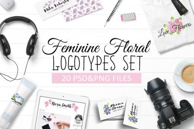 Feminine Floral Logo Templates 20