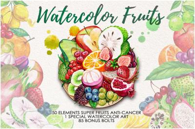 Watercolor Fruits Vol. 4
