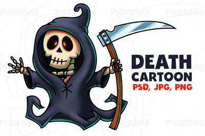 Death Cartoon Character Digital Painting