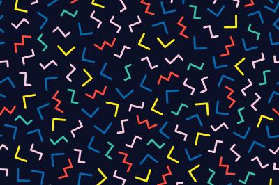 Memphis Geometric Pattern