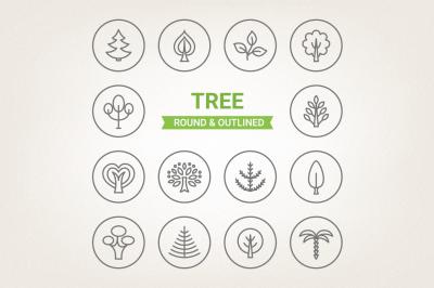 Circle Tree Icons