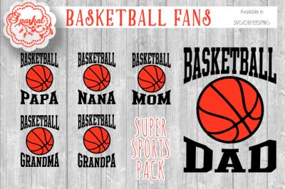 Basketball Sports Fan Cutting Files
