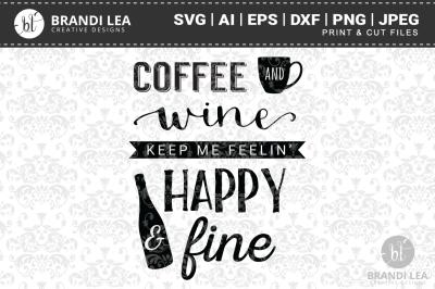 Coffee & Wine SVG Cutting Files