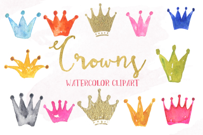 Crown watercolor clipart