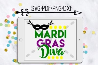 Mardi Gras Diva Cutting Design