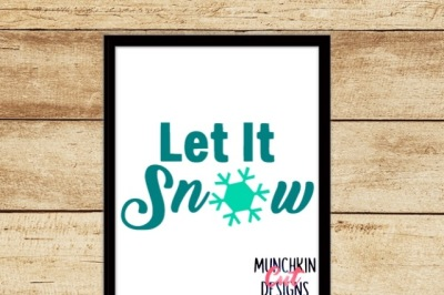 Snowflake Let It Snow Cutting Design