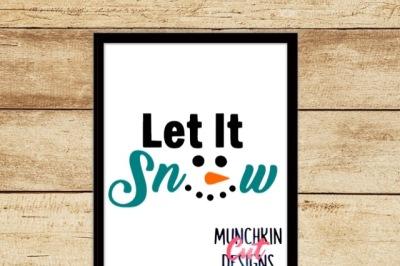Let It Snow Cutting Design