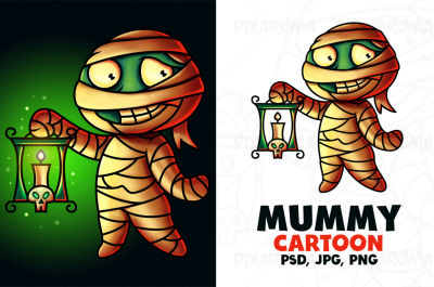Mummy Cartoon Character Digital Painting