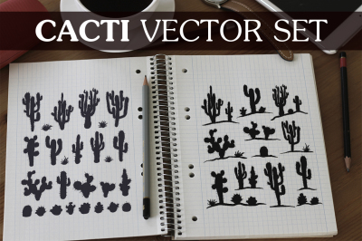 Vector Cacti Set