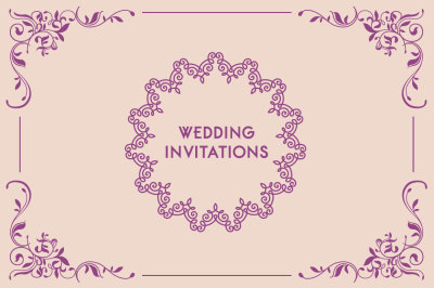 Wedding invitations card