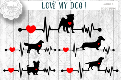 LOVE MY DOGS - Cutting Files