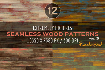 Extremely HR Seamless Wood Patterns Vol. 3