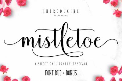 Mistletoe - Font Duo + Bonus