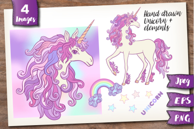 Unicorn and Rainbow set