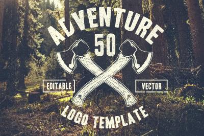 50 Retro Adventure Logo