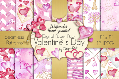 Valentine`s Day Digital Paper