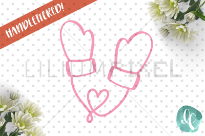 Heart Mittens / SVG PNG DXF