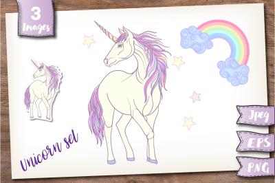 Unicorn and Rainbow set