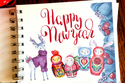 Cute New Year illustrations