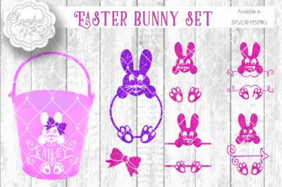 Easter Bunny Monogram Frames - SVG Cutting Files
