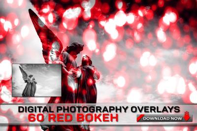 60 RED Bokeh Overlays
