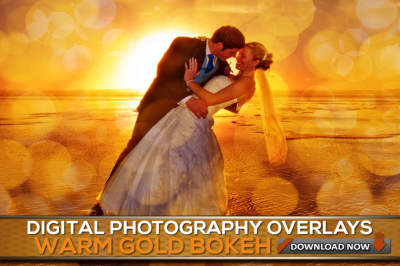 60 Gold Bokeh Overlays