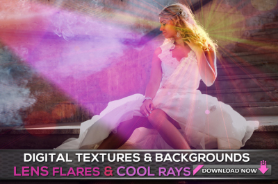 100 Lens Flare & Abstract Light Overlays