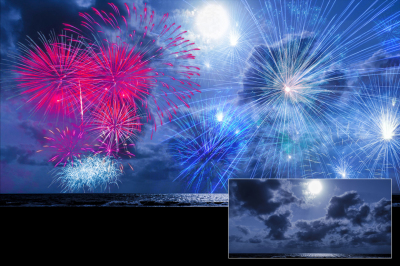 100 Firework Overlays