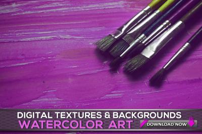 100 Watercolor Art Overlays