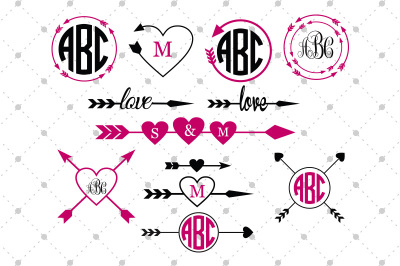 Arrow Monogram Frames Files