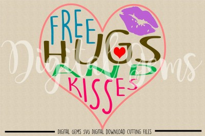 Hugs And Kisses SVG / DXF / EPS / PNG Files