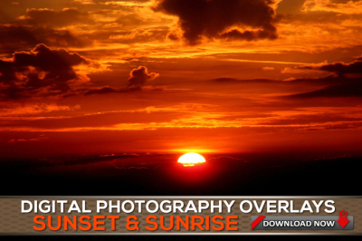 60 SUNSET Sky Overlays