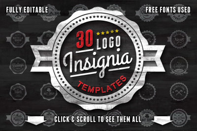 30 Logo Insignia templates
